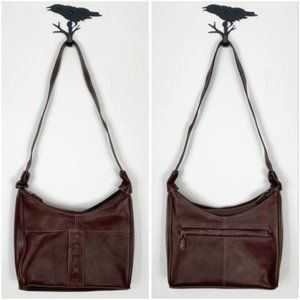 Chaos Leather Collection Brown Shoulder Bag